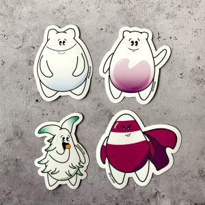 Immune cell cartoon sticker